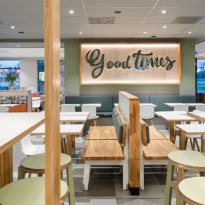 """ROL Fredbergs is proud to present the delivery of McDonald's in Västra Frölunda, Sweden. The restaurant is one of the first of its kind in Sweden with McDonalds' interior concept 'Natural Integrity'. It has been a very extensive and complex project and the result is a very fresh-looking and top modern restaurant with a focus on giving the customers the best possible experience. The project included refurbishing the roof, expanding the restaurant's dining room, replacing the ceiling, new flooring, replacing all the interiors and installing and expanding the restaurant's Digital signage and ordering system and renovating the kitchen. """"I think that I have got the nicest McDonald's restaurant in Sweden"""" – says owner Ulf Ternström. Ulf has a long experience of running restaurants. He started his first restaurant in 1996 and today he owns 6 McDonald's restaurants. https://rolfredbergs.com/"""